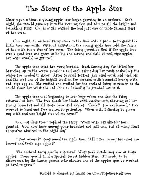 Marvelous How Long Is A Christmas Story The Musical #5: Apple+star+story+text.jpg
