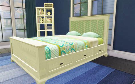 sims  blog pottery barn style bed frame  fabric headboard  honeysim