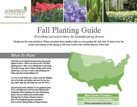 fall garden planting schedule your fall bulb planting guide longfield gardens