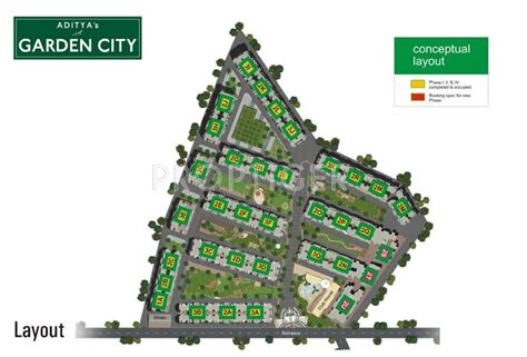 layout plan of garden city 1045 sq ft 2 bhk 2t apartment for sale in aditya builders