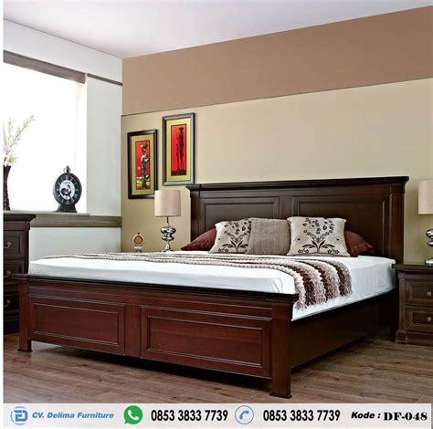 tempat tidur kayu jati minimalis ranjang tidur utama