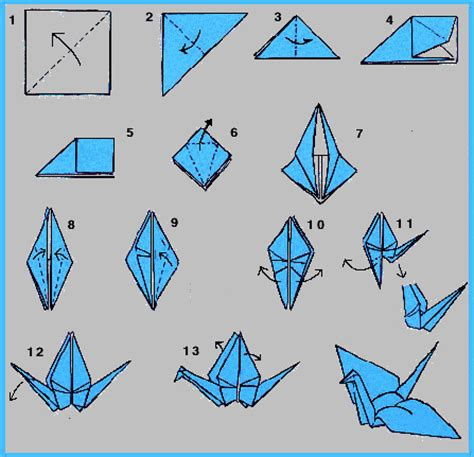 Steps To An Origami Crane - origami flapping crane step by step f f info 2017