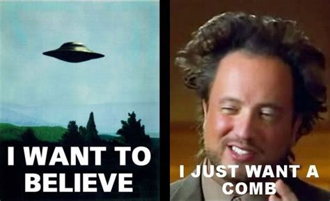 Aliens Meme History Channel - history alien hair brain spillage