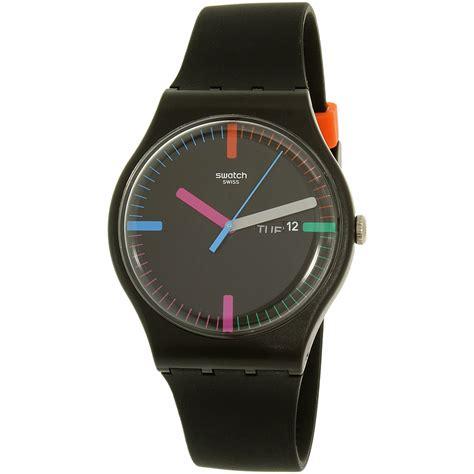Swatch Swiss Black Blue swatch s originals suob719 black silicone swiss