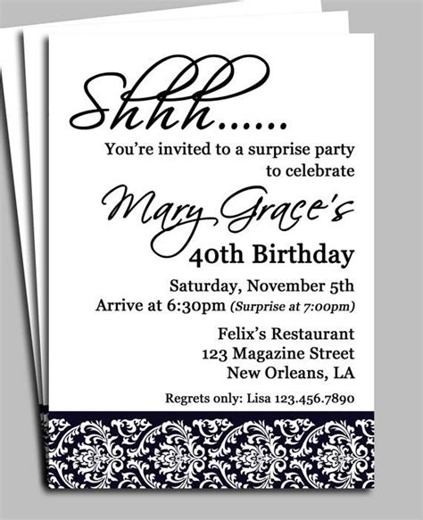 Free Birthday Invitation Templates For Adults by Birthday Invitations