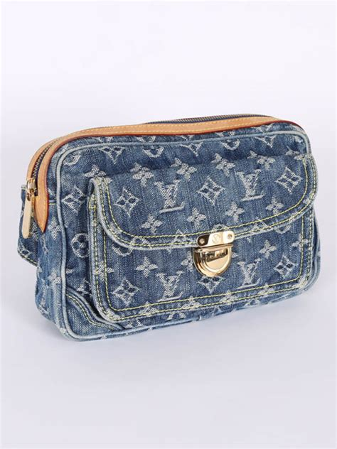 louis vuitton bum bag monogram denim blue luxury bags