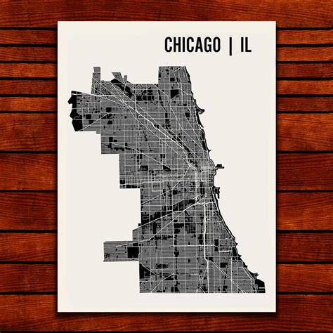 chicago map drawing chicago map print mr city printing touch of modern