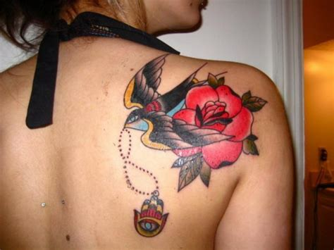 bird and rose tattoo 30 cool hamsa ideas with meanings hative