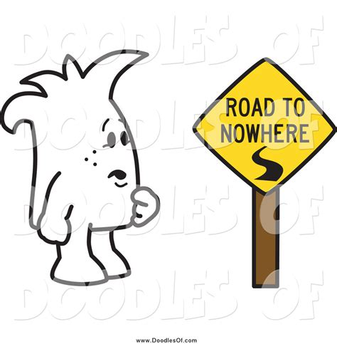 doodle 4 sign up vector clipart of a squiggle doodle by a road to