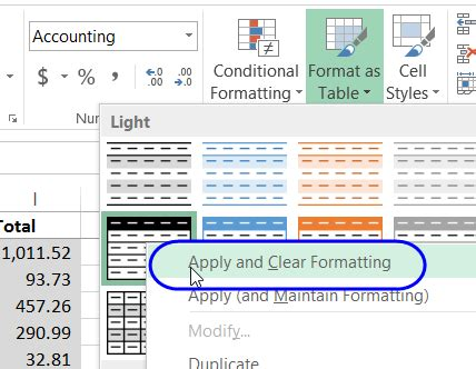 excel 2007 undo format as table the biggest contribution of remove table style excel to