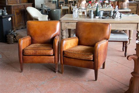 vintage leather armchair pair of vintage french leather chairs at 1stdibs