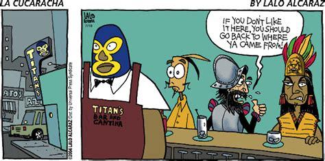 la cucaracha vs the books blue corn comics comic strips vs comic books