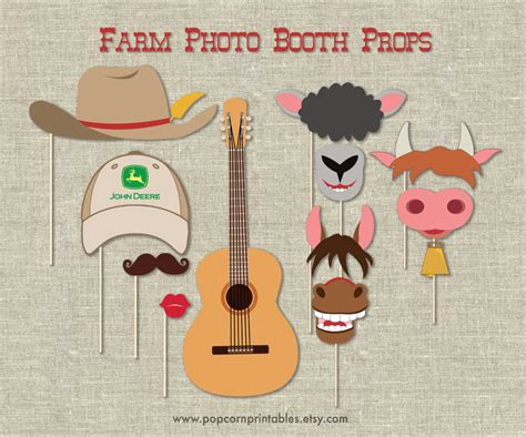 Farm Photo Booth Props Diy Instant Download By | farm photo booth props diy instant download by