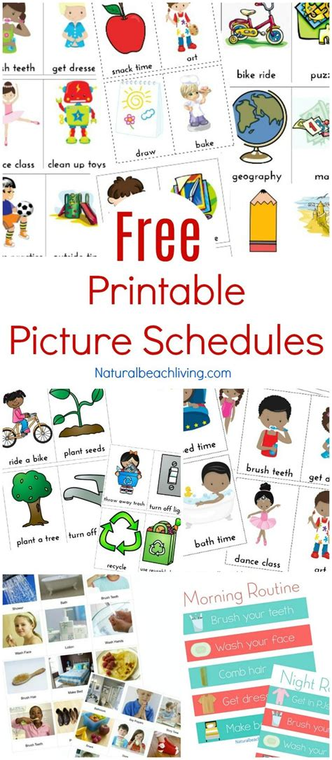 printable picture schedule autism 31550 best homeschooling images on pinterest preschool