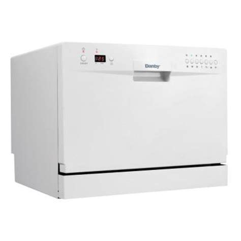Danby Ddw611wled Countertop Dishwasher White danby countertop dishwasher in white ddw611wled the home depot