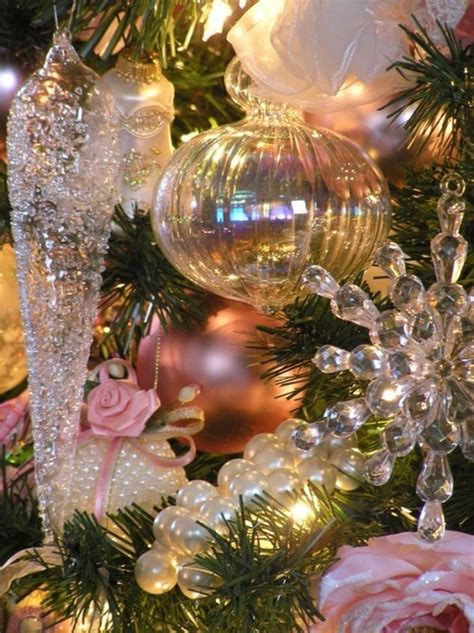 beautiful glass pink ornaments vintage christmas