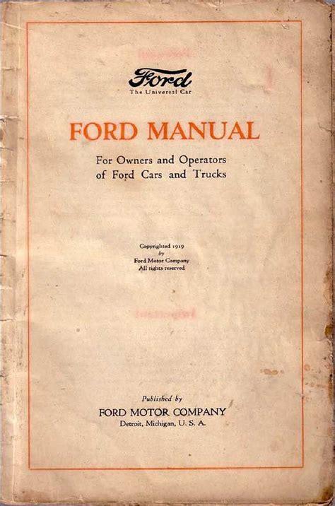 book repair manual 1909 ford model t free book repair manuals ford model t manual
