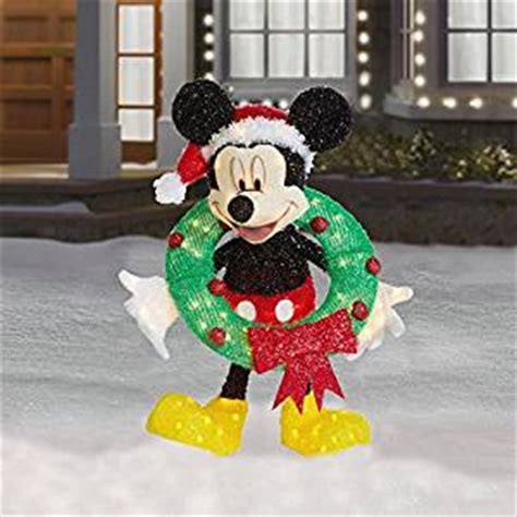 amazon com 30 quot lighted mickey mouse with wreath