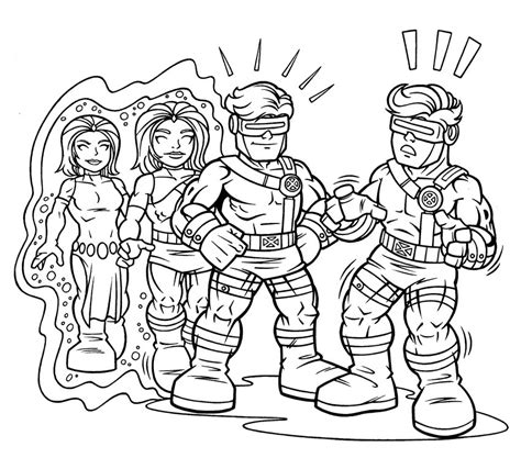 Free Ironman Superhero Squad Coloring Pages Squad Coloring Page