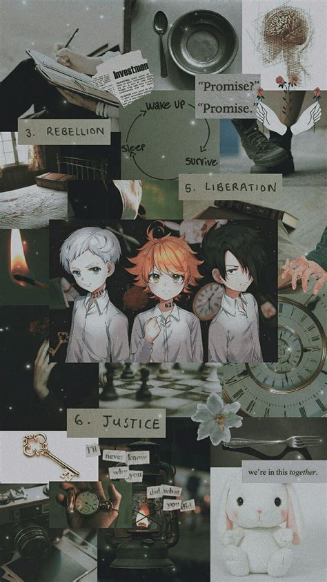 promised neverland aesthetic animes wallpapers