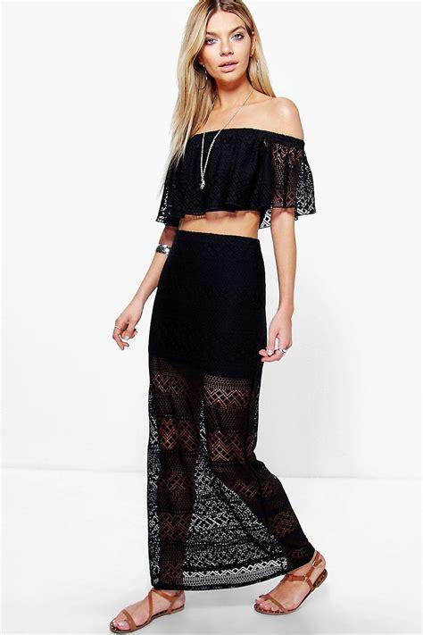 Maxi Stefanie Top N Skirt elise crochet bandeau top maxi skirt co ord set at boohoo