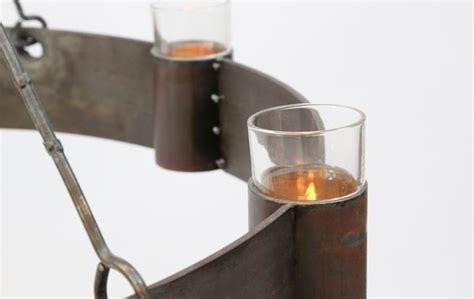 leuchter mit teelichtern 6 flamminger geschmiedeter kronleuchter aus stahl