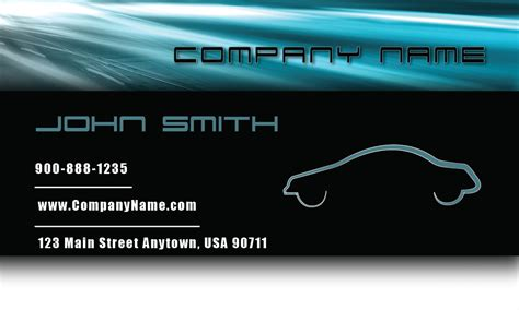 auto business card templates free blue road automotive business card design 501031