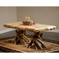 Rustic Log Coffee Table Rustic Peeled Aspen Log Coffee Table