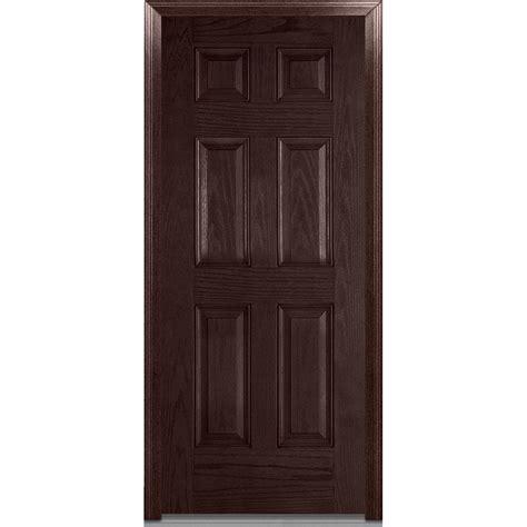 Fiberglass Interior Doors Stanley Doors 32 In X 80 In Infinity 6 Panel Stained Fiberglass Woodgrain Prehung Front Door