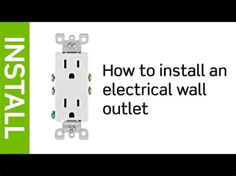 install  leviton electrical wall outlet youtube