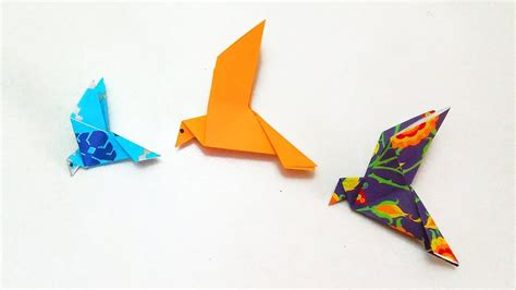 How To Make A Paper Bird That Can Fly - origami flapping bird paper birds wall hanging how to