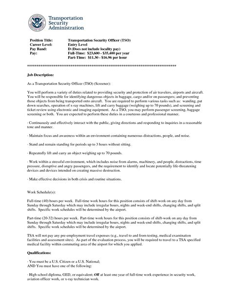 Tso Security Officer Cover Letter by Personal Protection Officer Sle Resume Resume Templates Construction