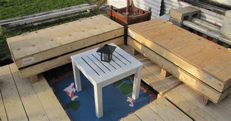 backyard woodworking projects small mostly freebie backyard deck hometalk
