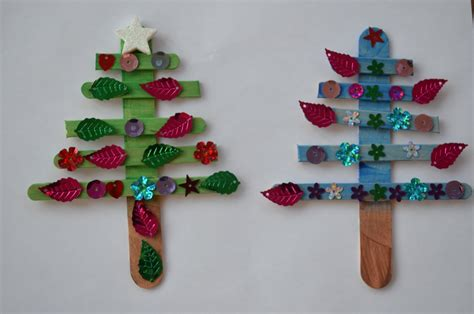 popsicle stick christmas tree ornaments family balance sheet