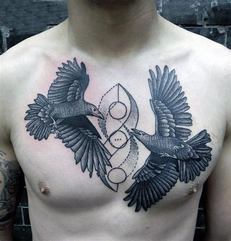 best bird tattoos for men top 90 best chest tattoos for manly designs and ideas