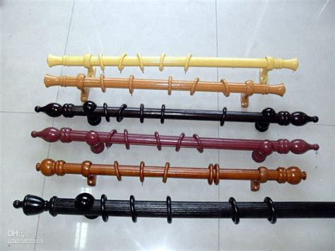 cheap wooden curtain pole wood curtain rod accessories perky fancy idea curtains