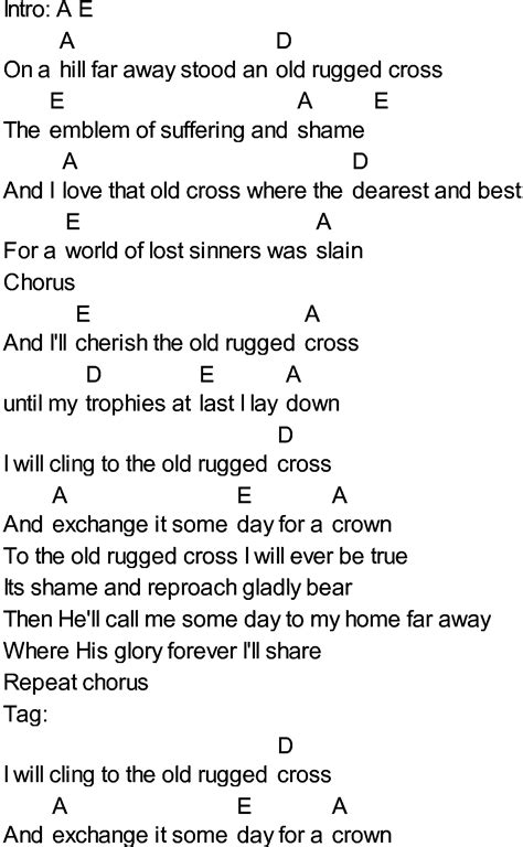 lyrics for the rugged cross the rugged cross pdf roselawnlutheran