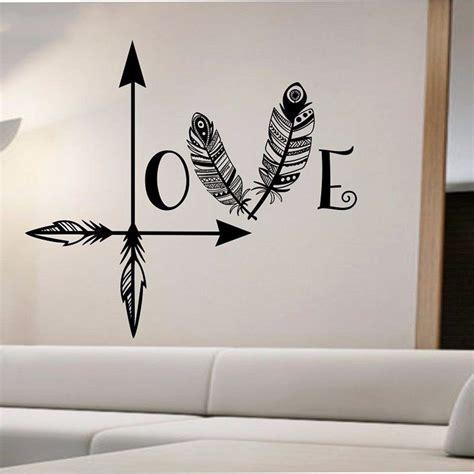 love wall decor bedroom beautiful arrow feather love wall decal namaste vinyl sticker art decor bedroom design mural