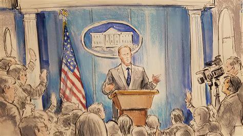 white house briefing no slide name set cnn sent a sketch artist to a white