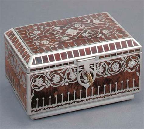 Of The High Will Velvet Be A Key Fabric In Your Aw Picks by Erhard S 246 Hne Silvered Metal And Wood Trinket Box