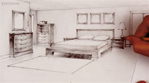 two point perspective bedroom drawing tutorial room in two point perspective bedroom