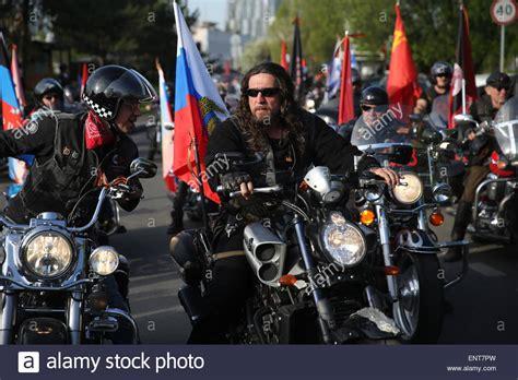 Motorrad Club Russland by German Soldier Motorcycle Stockfotos German Soldier