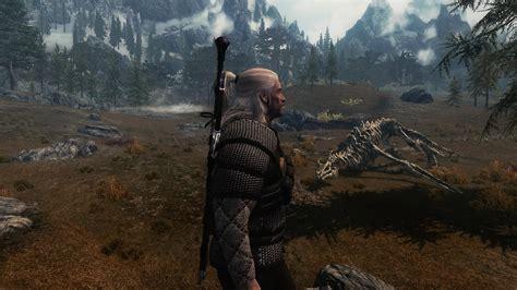 skyrim mod geralt witcher 3 style armor at skyrim nexus mods and community