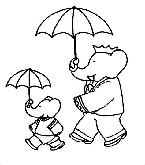 coloring pages babar picture 4