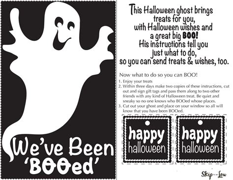 printable boo directions booing printables skip to my lou
