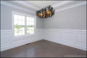 Dining Room Wainscoting Ideas Formal Dining Room With Trey Ceiling Custom Wainscoting Site Built Hardwood Flooring Formal