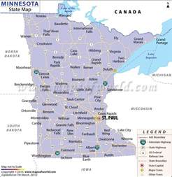 City Of Mn Minnesota State Map