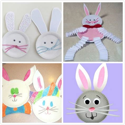 Easter Bunny Paper Plate Craft - paper plate easter bunny holidays