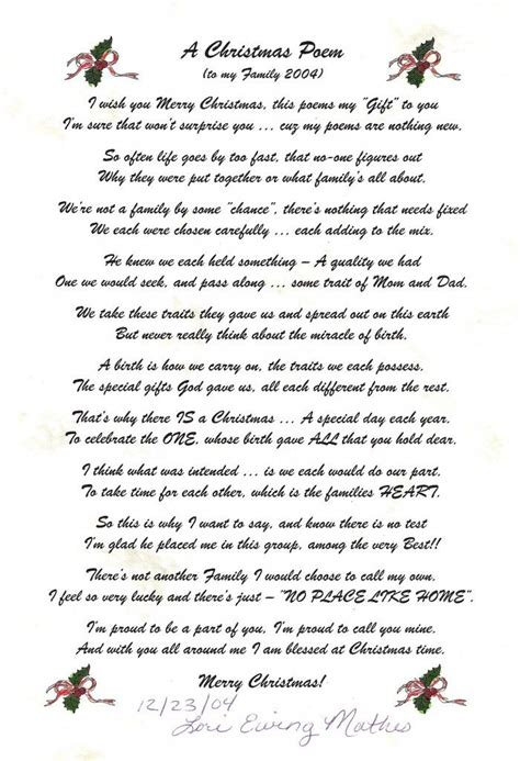 Merry From Heaven Poem Printable