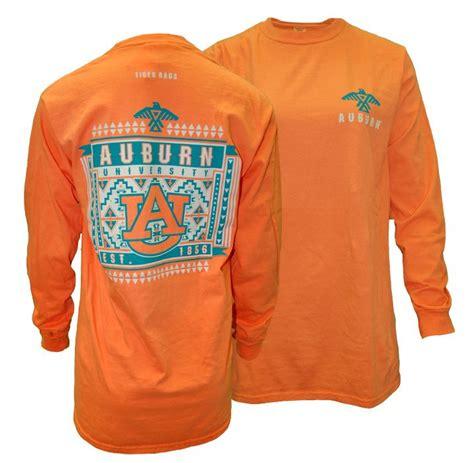 auburn comfort colors aztec auburn university long sleeve mango auburn